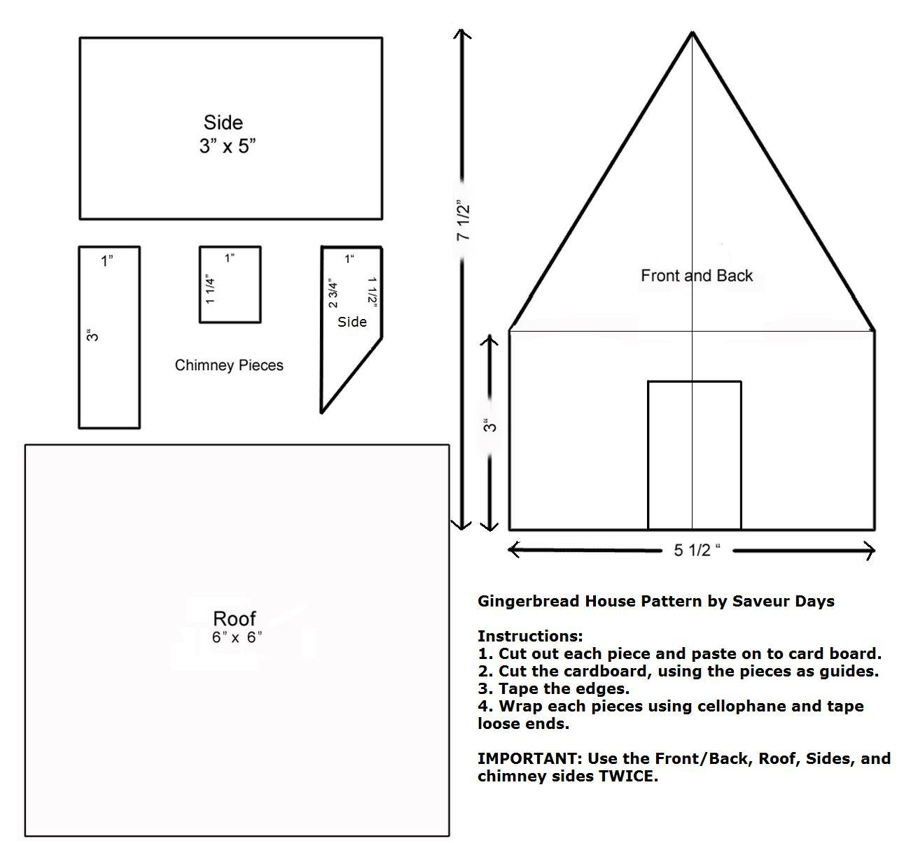 Gingerbread house pattern the image kid for House pattern