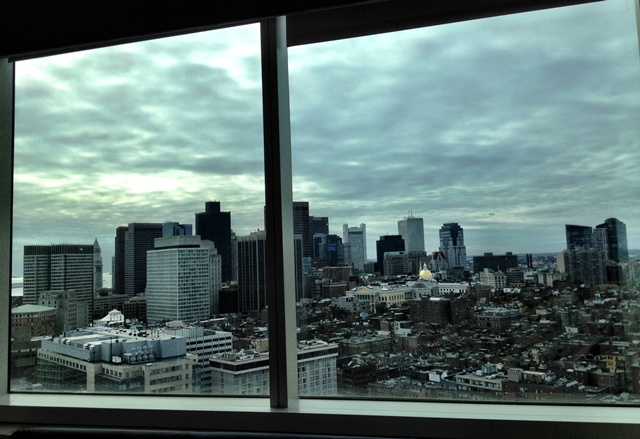 The view from my wicked hospital room the day after surgery. That's how we roll.