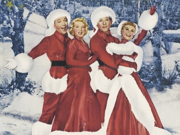 If snow fails to materialize on Christmas Day, there's always a DVD of Irving Berlin's White Christmas starring (from left to right) Bing Crosby, Rosemary Clooeny, Danny Kaye, and Vera-Ellen. Pop it into your DVD player and Merry Christmas!