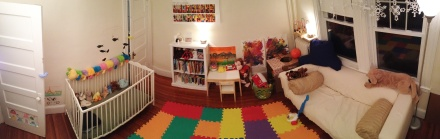 Panoramic view of Baby's play space